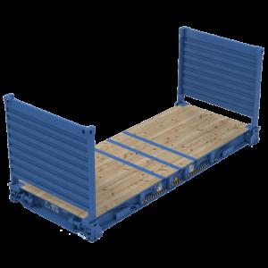 flat rack контейнер платформа